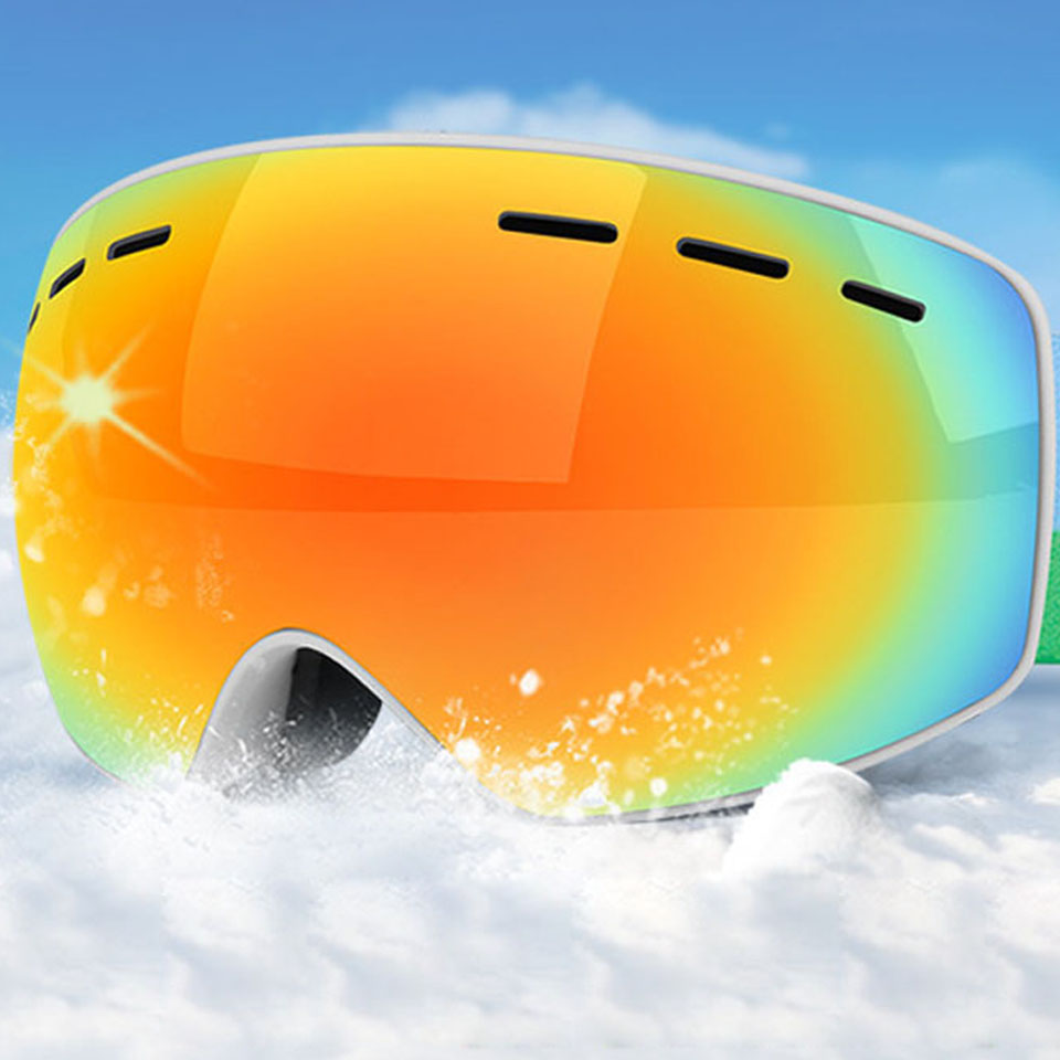 Kid Ski Goggles UV400 Anti-fog  Ski Mask Glasses Double Layers Skiing Snow Snowboard Eyewear For Child Children Girl 4-16 Years