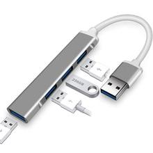 4 יציאת USB 3.0 רכזת תוספות Ultra Slim נייד אחד עם ארבעה USB עגינה תחנת ספליטר גבוהה מהירות שידור רכזת PUO88