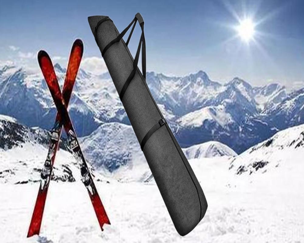 Snowboard bag Up to 216 cm Adjustable length| Waterproof, Ergonomic Handles Ski Bag - for Men, Women and Youth - Black