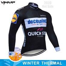 Passo rápido quente 2020 inverno térmica velo ciclismo roupas camisa dos homens mtb bicicleta roupas maillot ropa hombre invierno