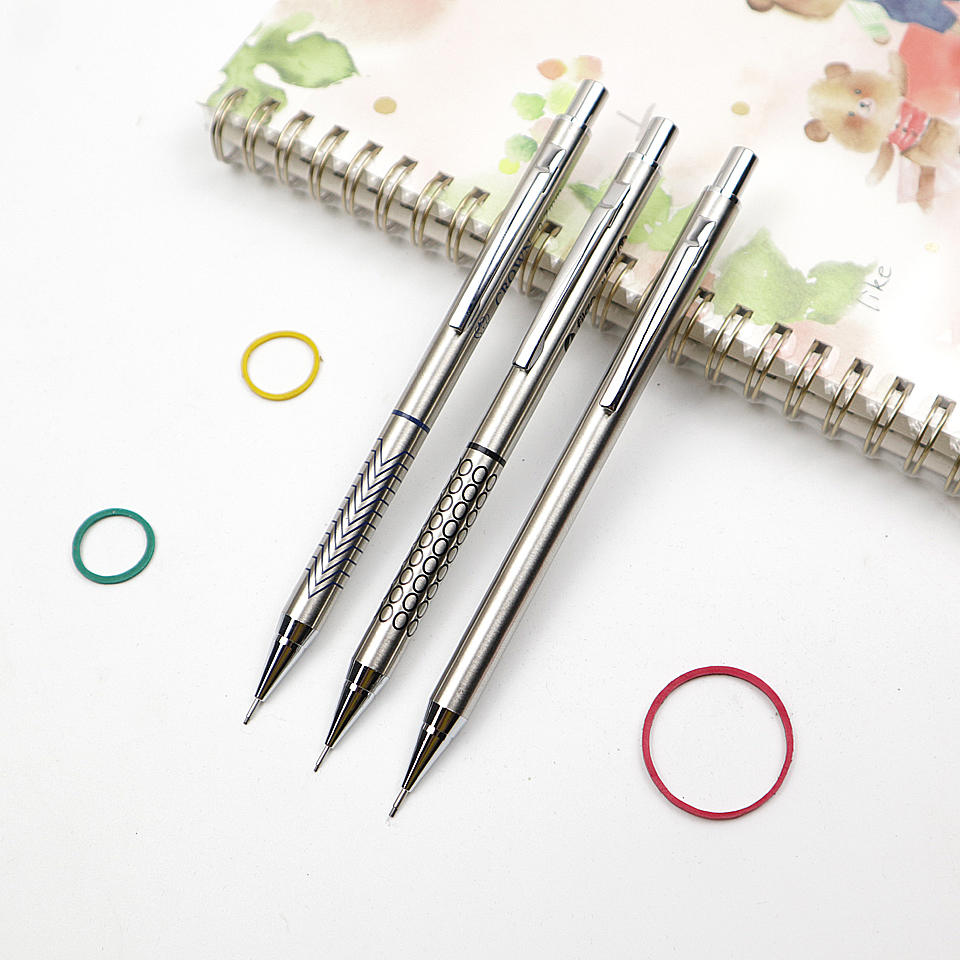 High Quality Full Metal Mechanical Pencil 0.5/0.7/0.9mm For Professional Painting And Writing School Supplies 2pcs/lot