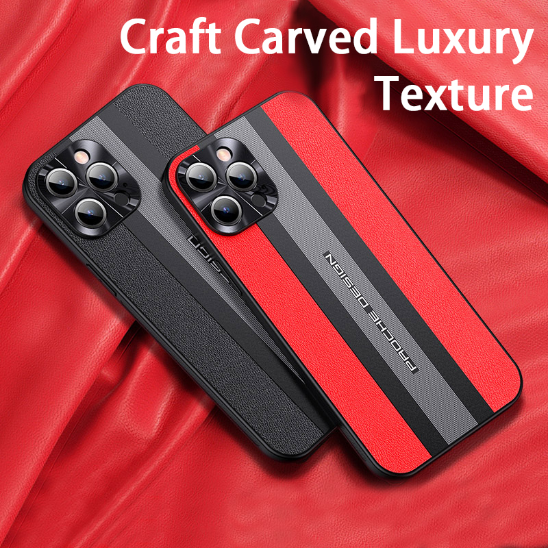 Luxury Fashion Shockproof Camera Lens Protection Silicone PU Leather Mobile Phone Case For iPhone 12 11 Pro Max Mini Back Cover