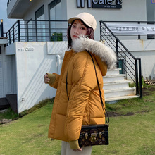 2019 Women Winter Jackets Down Cotton Hooded Coat Plus Size Parkas Mujer Coats Long Coat Fashion Female Fur collar Coats все цены