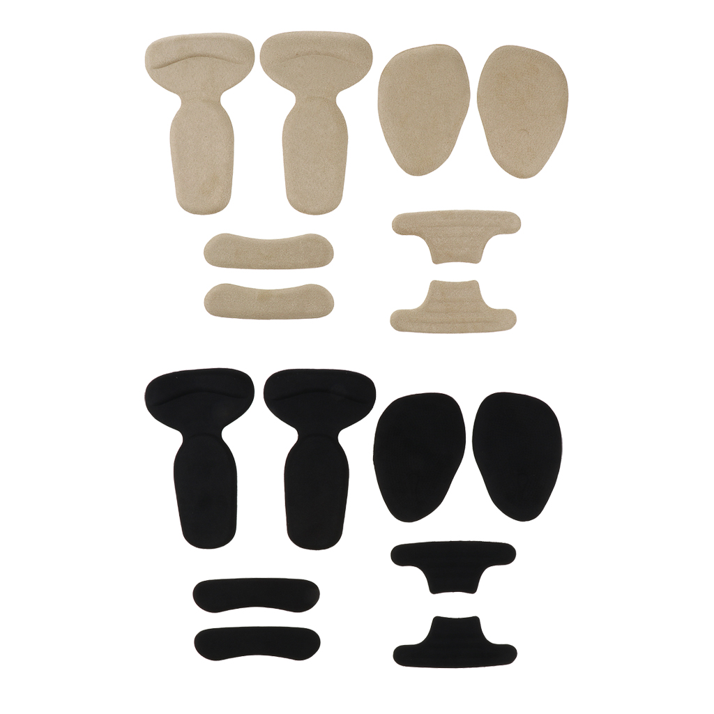 8 X High Heel Inserts Heel Grips Silicone Anti Slip Shoe Cushion Ball Of Foot Insoles Forefoot Pads For Shoe Too Big
