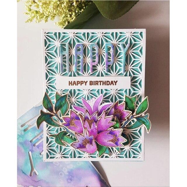 2020 Heiße Neue Gestanzte Iris Granatapfel Blume Metall Schneiden Stirbt Folie und Handwerk Scrapbooking Für Karte, Der Schablonen keine briefmarken