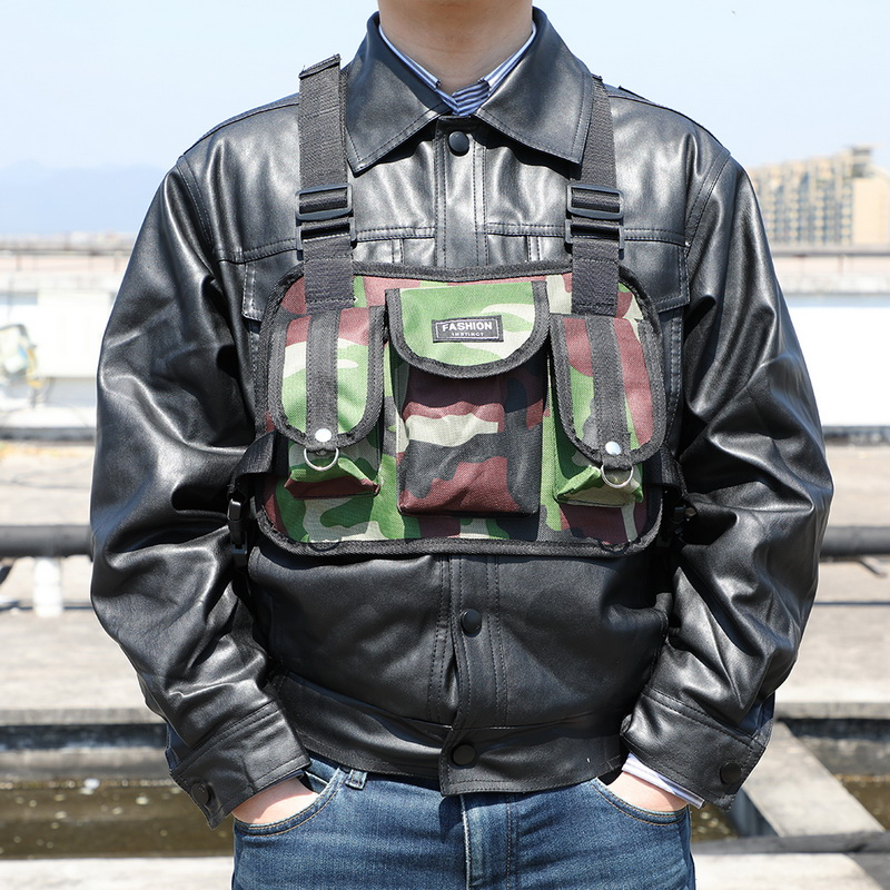 Litthing Nylon Chest Rig Bag Vest Hip Hop Streetwear Functional Tactical Harness Waist Packs Kanye West Wist Pack Chest Bag