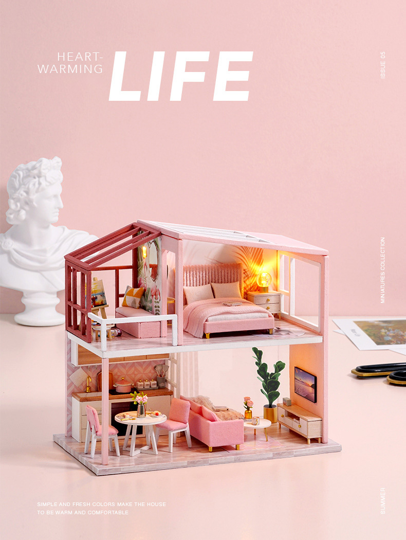 Warm The Heart Life DIY Nordic Miniature House (QL 003 Without cover)