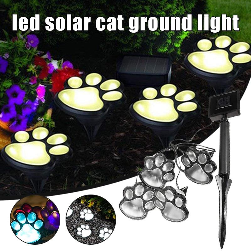Footprint-Lamp Solar Claw-Lamp Ground-Light Garden Outdoor Cute Animal Paw-Print In-Stock