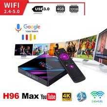 H96 MAX Android 9.0 smart TV Box 4G 64G RK3318 4 Core 2.4G/5G Wifi BT 4.0 4K HD Set Top Box Google Play YouTube Netflix H96max все цены