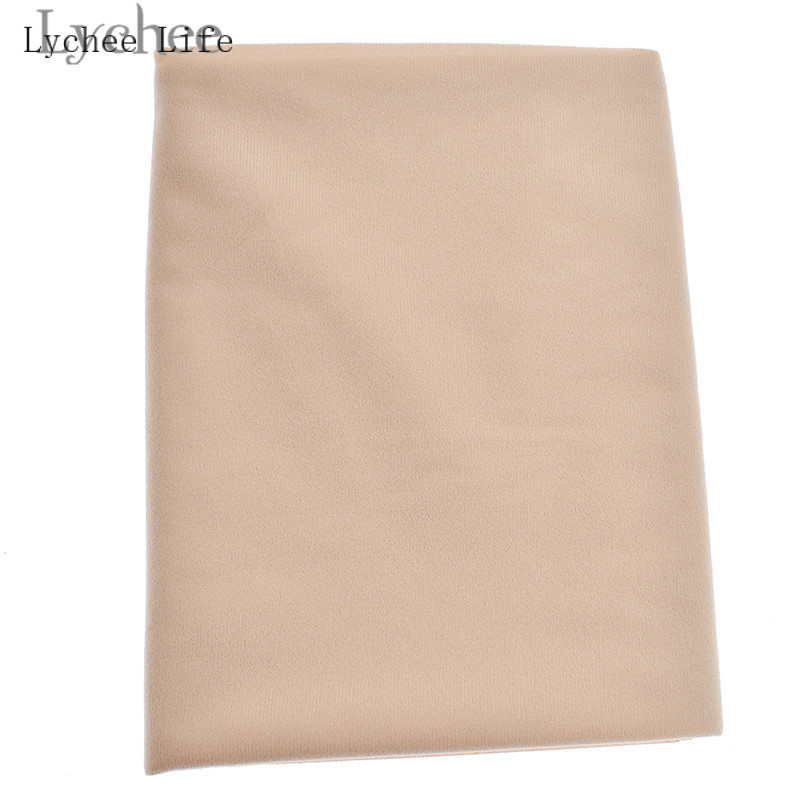 Lychee Life Doll Skin Fabric Solid Color Plush Cloth DIY Patchwork Sewing Supplies Accessories