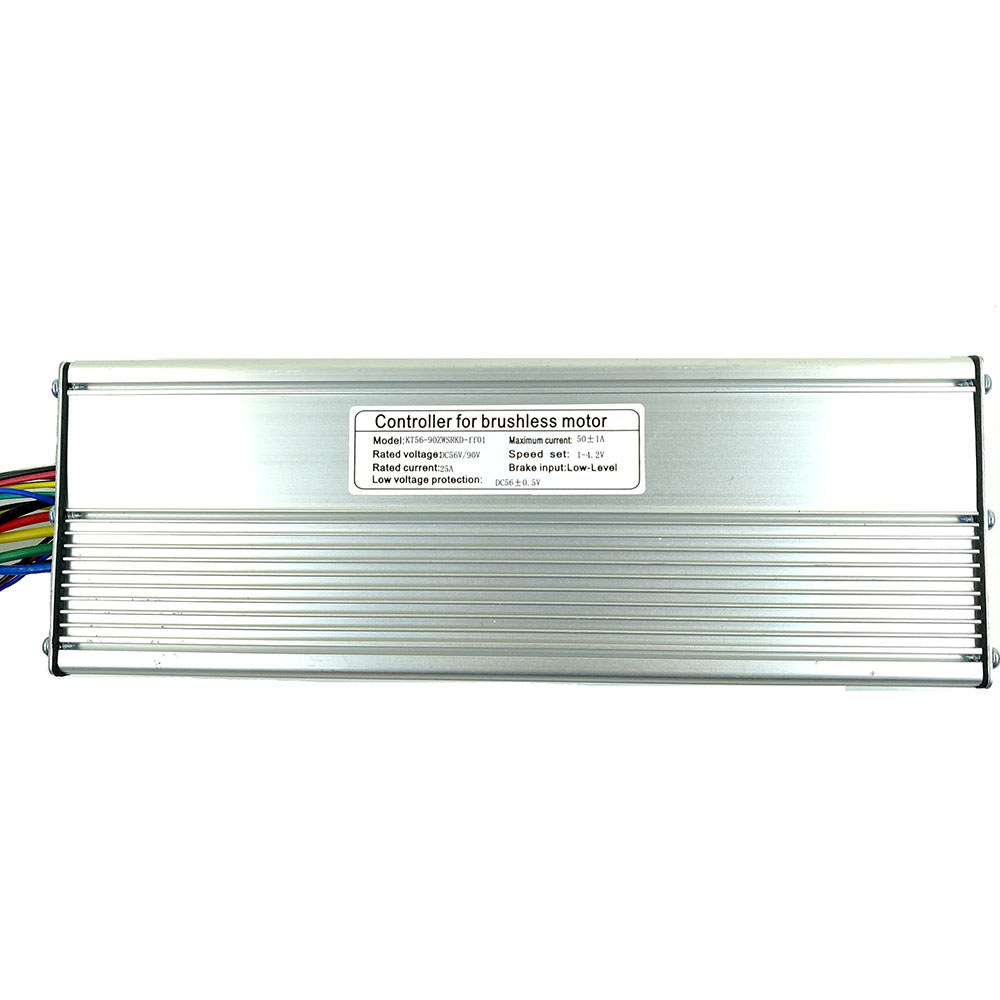 Pewnego dnia Kunteng KT 56 V-90 V 50A standardowy kontroler fali prostokątnej dla Ebike 3000W silnik bldc zestaw do konwersji