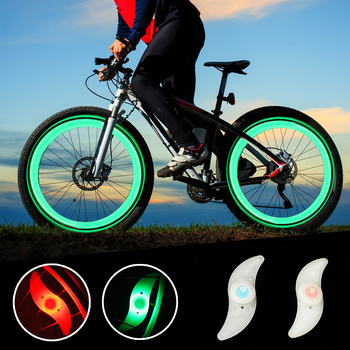 New Personality Willow Shape LED Bicycle Wheel Spoke Light Waterproof Bike Wheel Cycling Accessories Lamp Cycling Accessories image