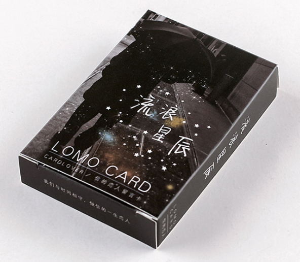 52mm*80mm Star Alone Paper Greeting Card Lomo Card(1pack=28pieces)