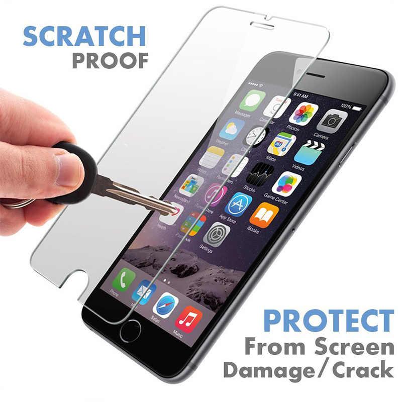 Pelindung Layar untuk iPhone 12 Pro Max X XS XR 5 5S SE Tempered Glass untuk iPhone 11 Pro 12 Mini 7 Plus 8 6 6S Pelindung Kaca