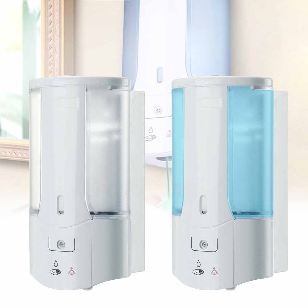 H0803b1cd73a544e58b0e68ec36d6d2c14 400Ml Automatic Liquid Soap Dispenser Smart Sensor Touchless ABS Electroplated Sanitizer Dispensador For Kitchen Bathroom