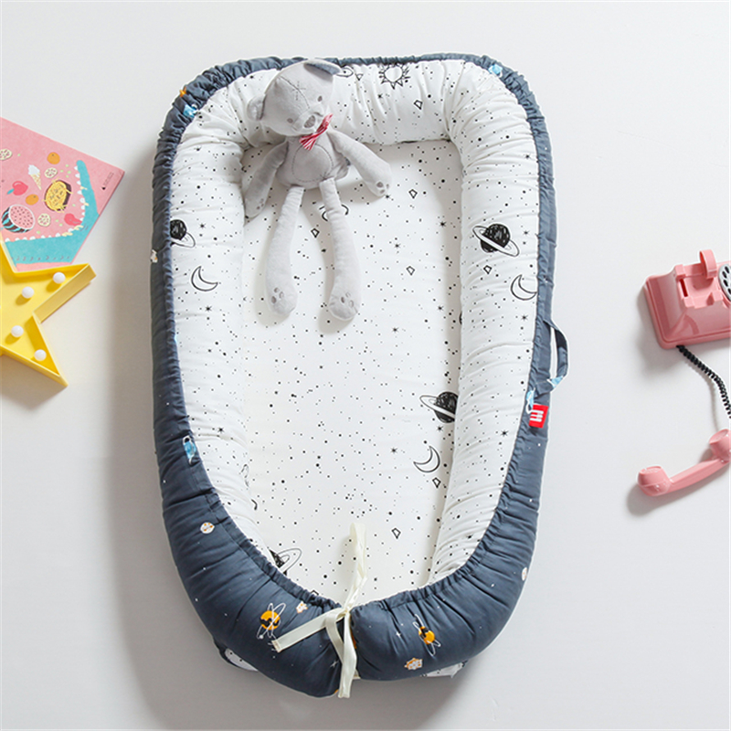 Portable Bionic Bed Nest Toddler Cotton Cradle Baby Bassinet Bumper Foldable Sleeper Babynest For Newborn Travel Bed Crib