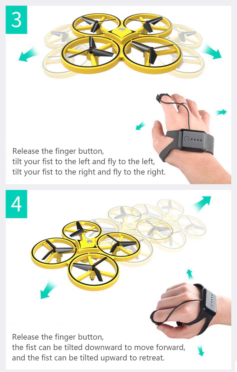 Smart Watch Quadcopter Drone for Children or Adults