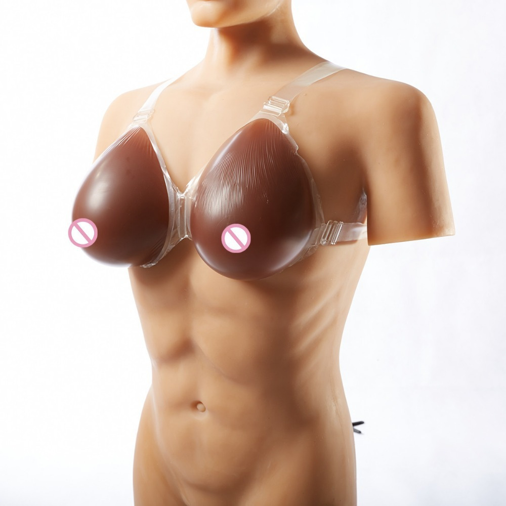 Artificial Black Chest Boobs 500g / Pair Cup Small Shemale Fake Tits Silicone Breast Forms Breast Breasts Drag Queen