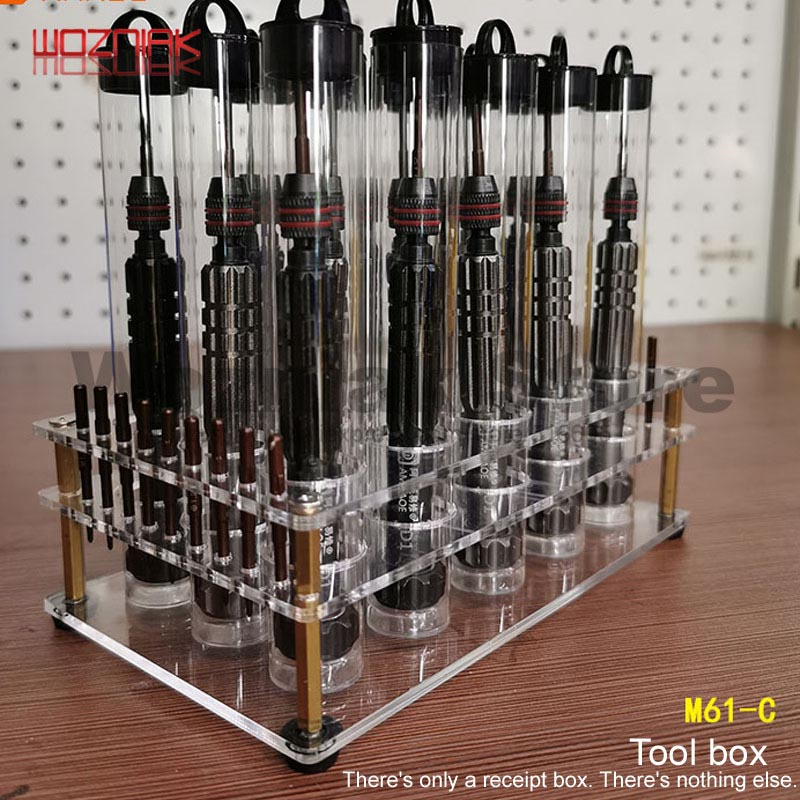 Transparent Reception Desk For Repair Tweezers Bolt Driver Knife Storage Rack Multifunctional Box