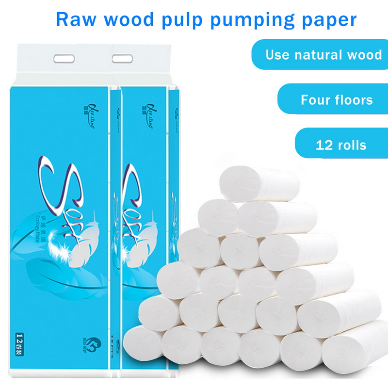 Paper Towels For Household, Soft & Strong Kitchen Paper Towels, White, 12 Rolls