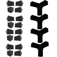 Corner-Block Acoustic-Bass-Trap Studio Foam-Column Flame-Retardant Finish High-Density-4-Set