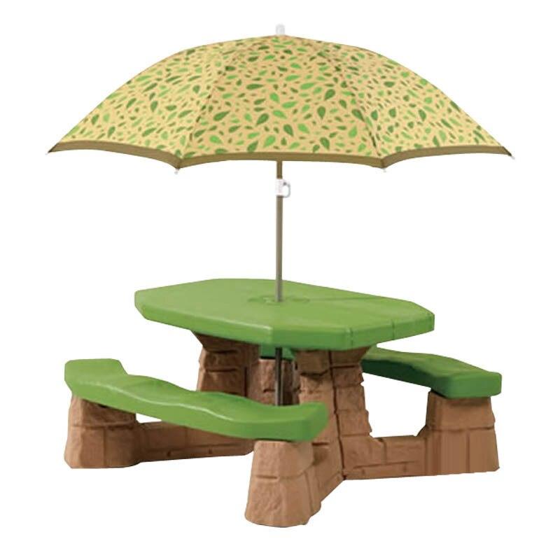 Amérique importer jouet Step2 enfants meubles en plastique Six personnes Table de jeu de pique-nique