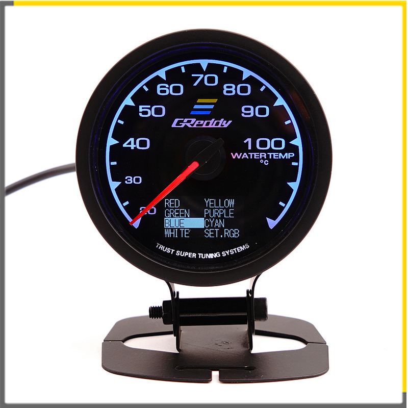 Racing Gauge GReddi Multi D/A <font><b>LCD</b></font> Digital <font><b>Display</b></font> Water Temperature Gauge Car Gauge 2.5 <font><b>Inch</b></font> 62mm 7 Color in <font><b>1</b></font> image