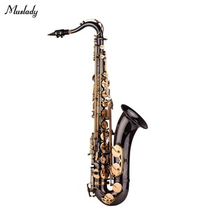 Image 2 - Muslady Bb Tenor Saxophone Sax Brass Body Black Nickle Plated Golden Keys Woodwind Instrument with Carry Case Gloves