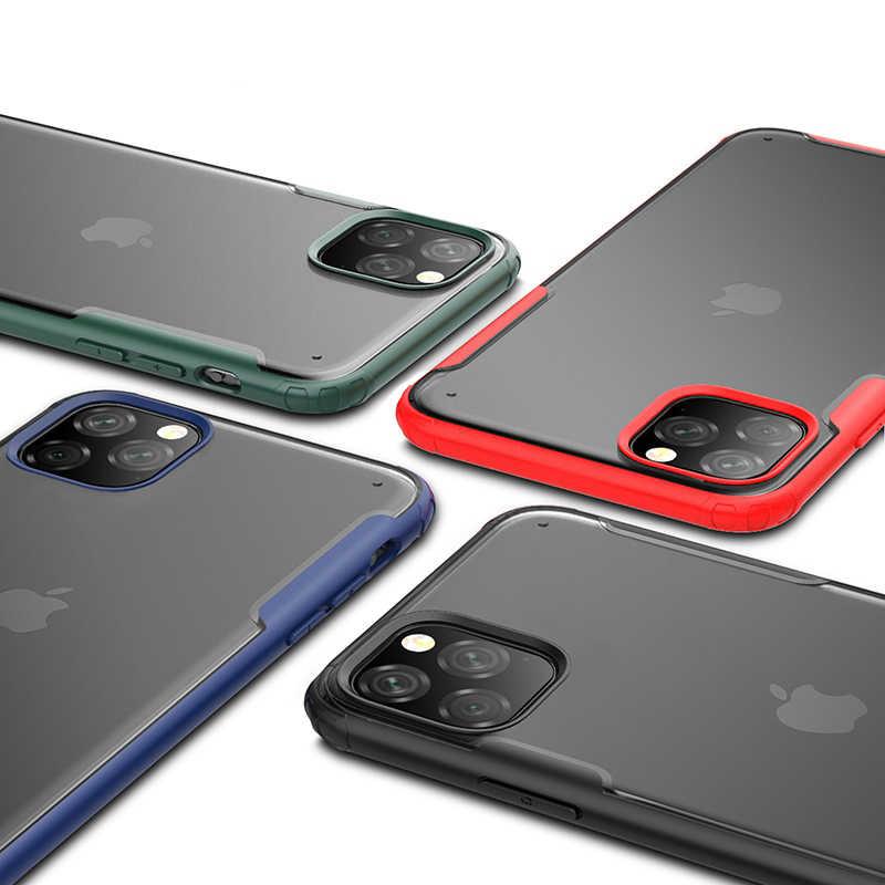 Ykz luxo caso à prova de choque para iphone 11 pro xs max capa para iphone x xs xr 7 8 plus ultra fino fino fosco duro volta coque
