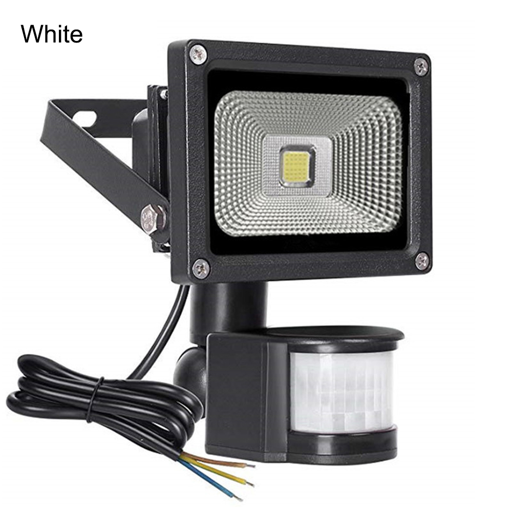 PIR Motion Sensor LED Floodlight Outdoor Lighting AC220V 10W 30W 50W Waterproof Led Spotlight For Garden Wall Street Storefront