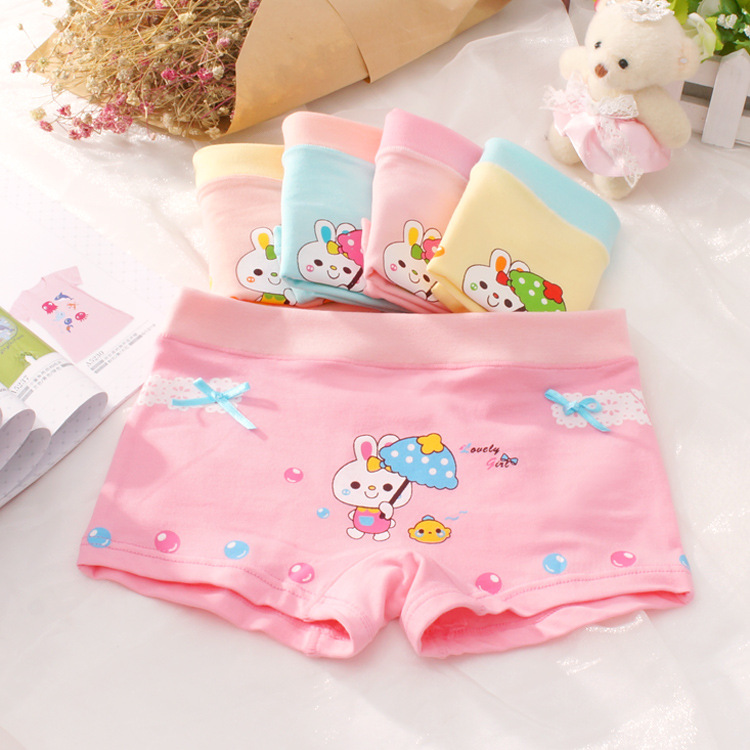 Underpants for Girls Cotton Toddler Teen Kids Girls Child Underwear Wholesale Boxer 2 3 4 <font><b>5</b></font> 6 7 8 9 10 11 12 Year 5pcs/set image