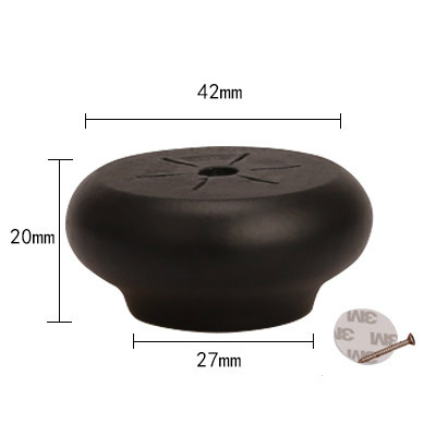 4/10pcs Black Furniture Legs Feet Solid Wood Table Carbinet Coach Sofa Round Shape Leg Foot 2/4/6cm Height