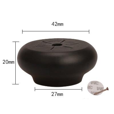 4/10pcs Black Furniture Legs Feet Solid Wood Table Carbinet Coach Sofa Round Shape Leg Foot 2/4/6cm Height