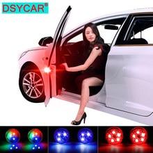 DSYCAR 1Pair Auto Porta Di Sicurezza Senza Fili HA CONDOTTO LA Luce di Avvertimento Luce di Portello LED Strobe per Anti-posteriore-end di Collisione interruttore magnetico