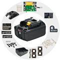 BL1830 пластиковый чехол для аккумулятора PCB  защитная плата для зарядки  этикетка для MAKITA 18V BL1850 3Ah 5Ah  светодиодный индикатор литий-ионного акк...