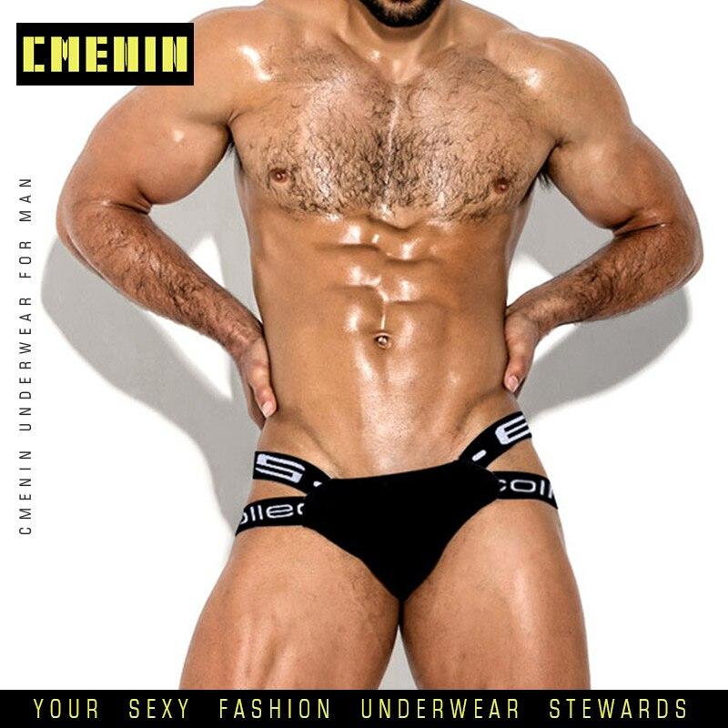 Popular Cotton Sexy Gay Underwear Men Thong Men Jockstrap Men's Lingerie G String Men Penis Pouch Gay Underwear Cueca BS3501