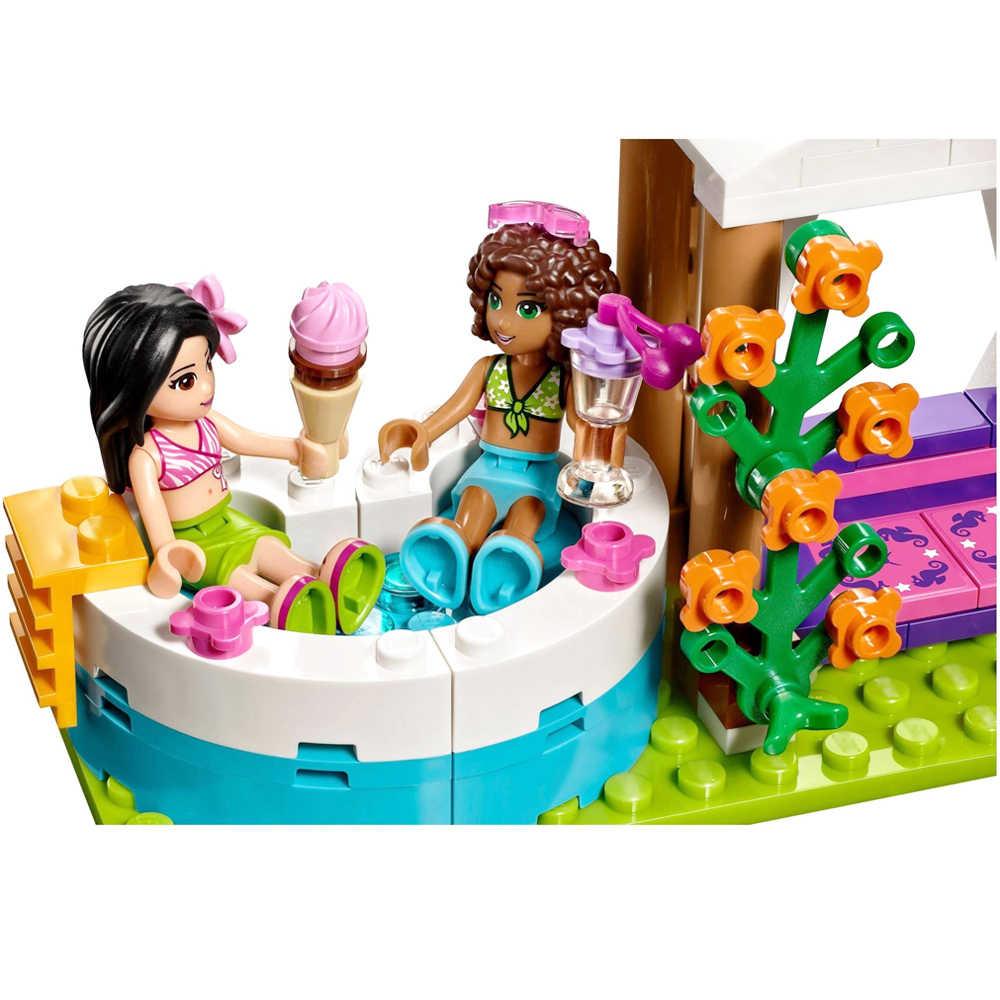 """Fit Friends 41313 летний бассейн """"heartlake"""" Набор для купания 589 шт. модель строительные блоки Наборы кубиков Игрушки для девочек детские подарки"""