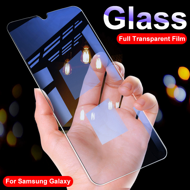 9H Protective Glass On For Samsung Galaxy A10 A20 A30 A40 A50 A60 A70 A80 A90 A20E A40S M10 M20 M30 M40 Tempered Glass Film Case