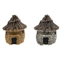Jardim de conto de fadas Casa de Pedra Artesanato Em Miniatura de Mini Decoração Paisagem|  -