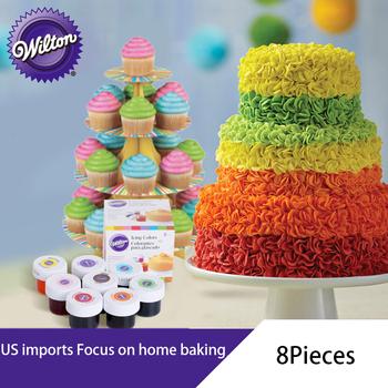 Wilton Food Color 4 8 kolor zestaw do pieczenia surowiec krem tortowy kolor żywności żel na bazie barwnik spożywczy ciasto kolor narzędzie tanie i dobre opinie CN (pochodzenie) Pieczenie ciastka szpatułki Ekologiczne ceramic Other Baking Pastry Tools