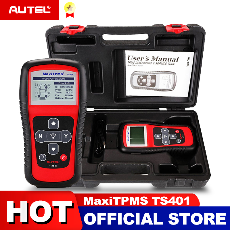 Image 1 - Autel MaxiTPMS TS401 Tire Pressure Monitoring System OBD2 TPMS Diagnostic Scanner Tool Activate 315 433MHZ Sensor Programming
