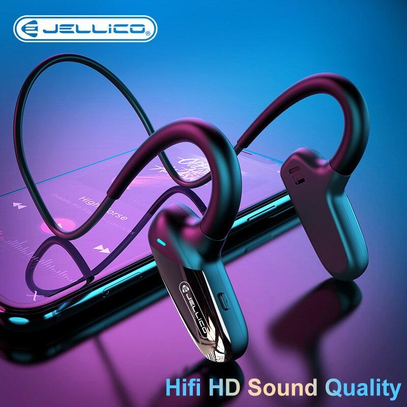 Jellico Беспроводной наушники костной проводимости Bluetooth 5,0 спортивные наушники стерео долгого ожидания Водонепроницаемая гарнитура
