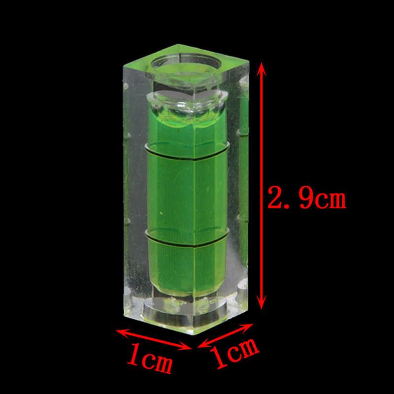 2 قطعة 10*10*29 ملليمتر مربع مستوى الكحول فقاعة مع الشريط المغناطيسي/1 قطعة فقاعة روح درجة علامة سطح مستوى أداة قياس