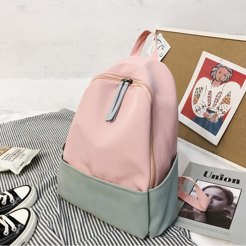 Waterproof Leisure Backpack For Youth Women Hit Color Students School Bag Teenager Girl Bagpack Literary Style Backpacks