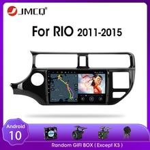 Jmcq android 9.0 rádio do carro para kia k3 rio 2011-2015 reprodutor de vídeo multimídia gps 2din 2 + 32g navigaion gps tela dividida com quadro