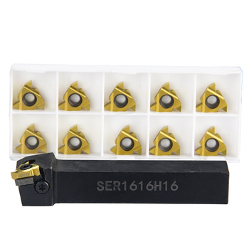 SER1616H16 SER2020K16 SER2525M16 gwint zewnętrzny narzędzia tokarskie tokarka 16ER wkładki z węglika CNC uchwyt na tanie i dobre opinie KEENCUTEER SER 16 Toczenia gwintów narzędzia Alloy steel