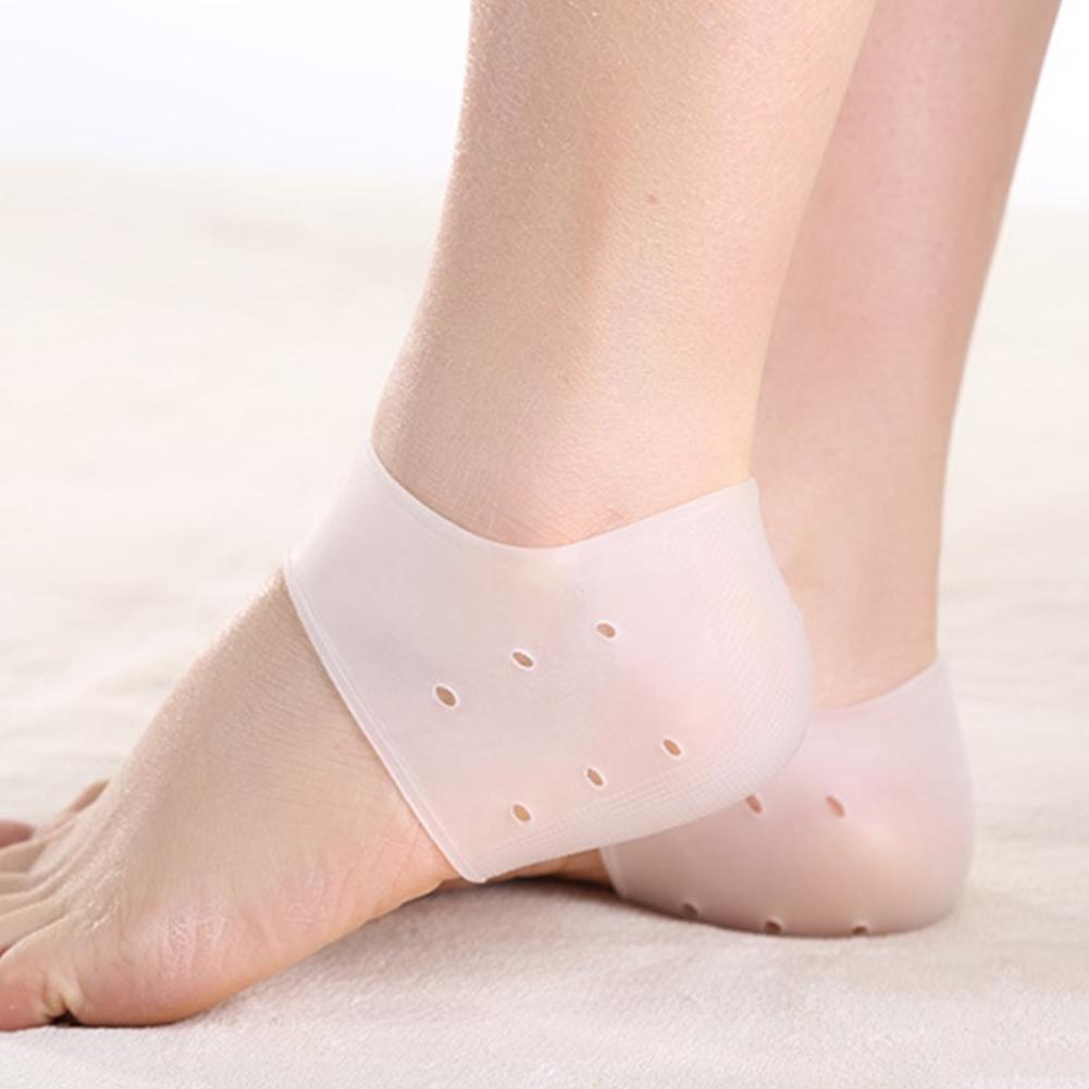 2020 Lowest Price Unisex Invisible Height Increase Silicone Heel Socks Anti Crack Foot Protector Christmas Gift