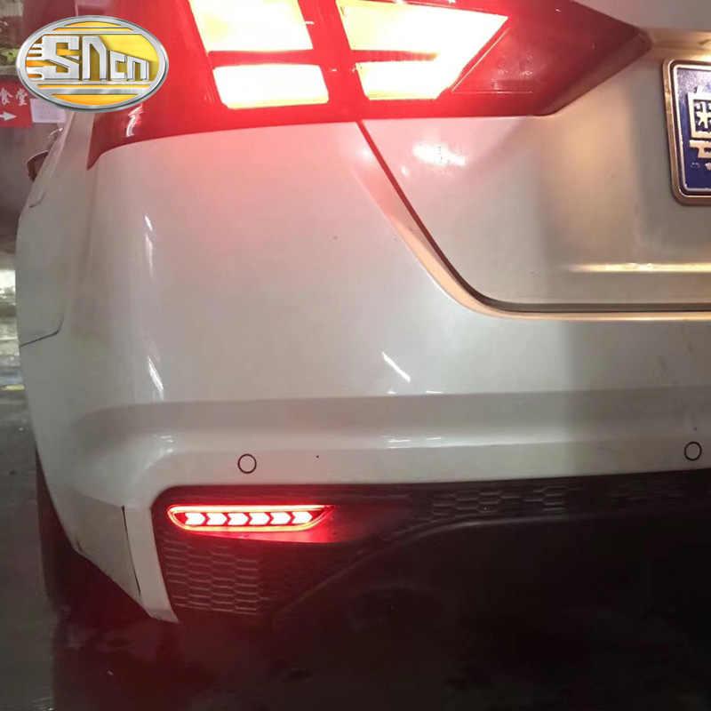 Voor Nissan X-Trail 2014 2015 2016 Multi-Functies Auto Achterlicht Led Mistachterlicht Bumper Licht auto Lamp Remlicht Reflector