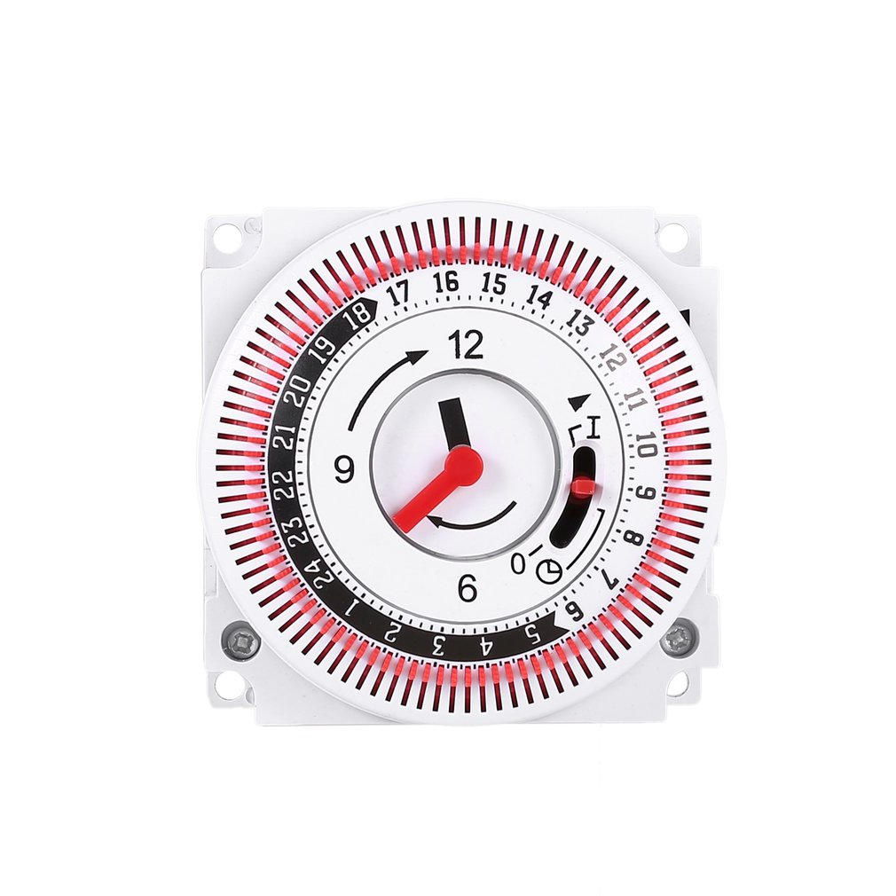 Temporizador mecánico 250V contador de tiempo recordatorio 15min 24h cocina cuenta atrás controlador de ahorro de energía interruptor de sincronización Industrial SINOTIMER 5/12/220V semanal 7 días programable Digital Time Switch relé temporizador Control para electrodoméstico 8 Configuración de encendido/apagado