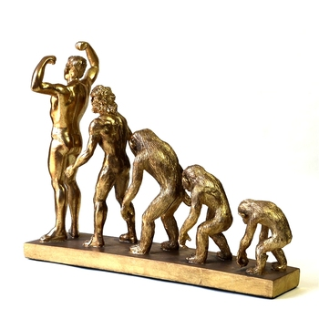 Human Evolution Sculpture Resin Anthropoid Statue Troglodyte Remote Times Museum Darwin History Ornament Decor Craft Accessories 5